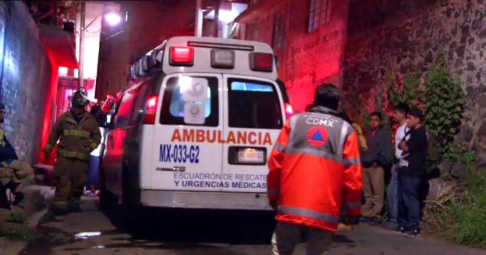 dos personas resultan heridas por una explosion