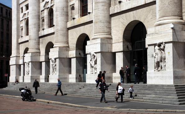 Fachada de la Bolsa italiana de valores