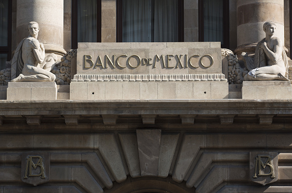 Fachada del Banxico en la Ciudad de México