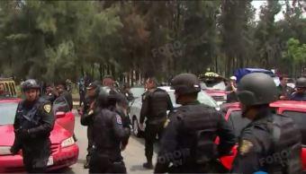 La Policia de la Ciduad de mexico realiza operativo en tlahuac