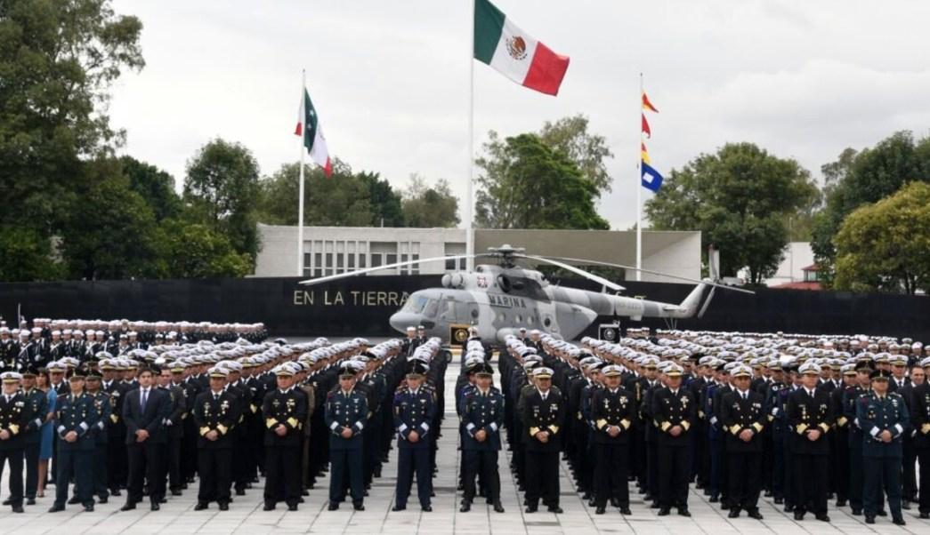 Graduados de la Marina. (Twitter SEMAR México)