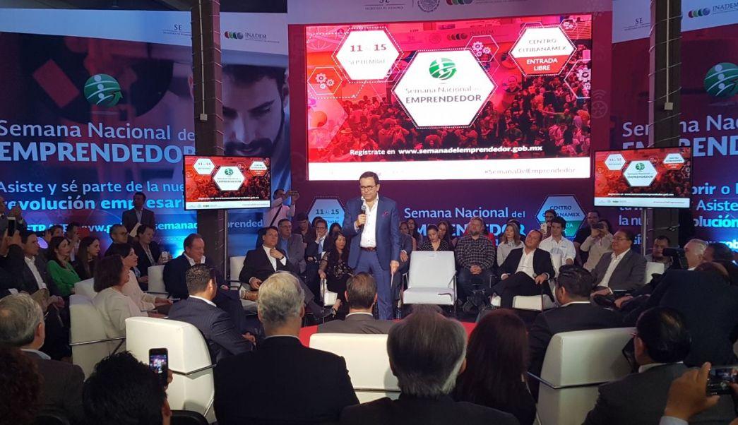 Ildefonso Guajardo Villareal en la Semana del Emprendedor