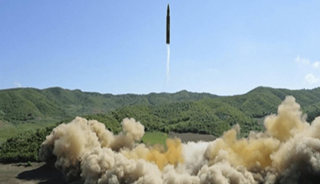 Misil balistico lanzado por Corea del Norte