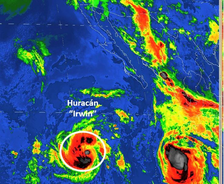 Tormenta tropical Irwin se intensifica a huracan categoria 1 en el Pacifico