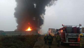 incendio en bodega de plasticos en edomex