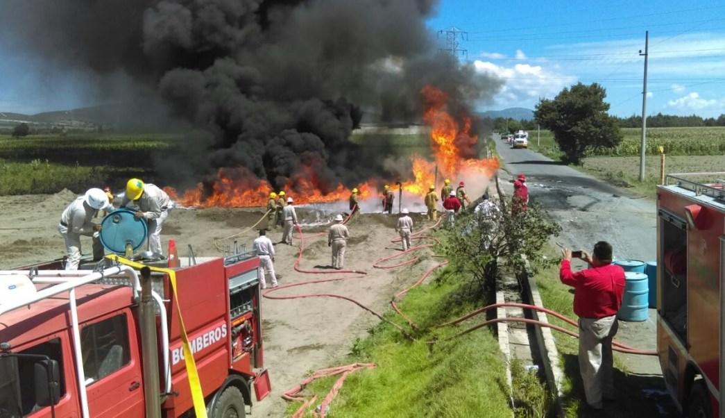 Incendio, Toma Clandestina, Puebla, Palmar de Bravo, Robo de combustible