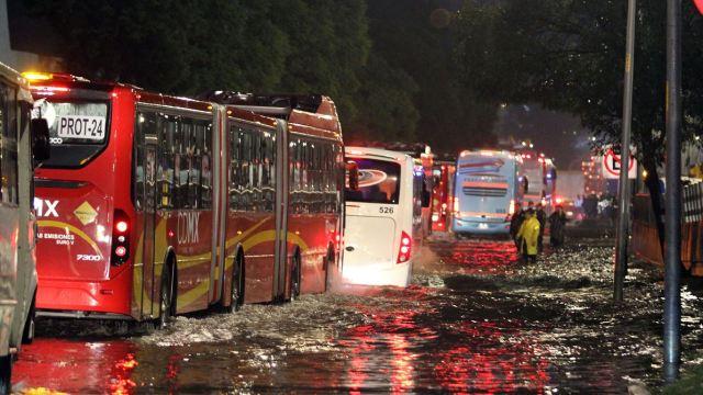 Clima, tormenta, lluvia, afectación, Gustavo A. Madero, inundación, encharcamiento