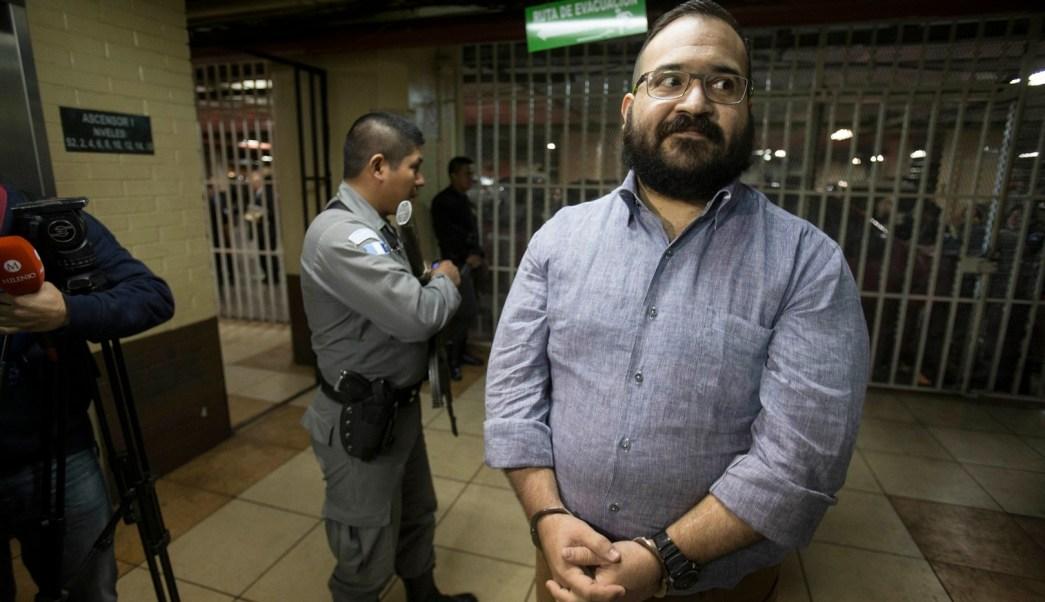 Javier Duarte en la Torre de Tribunales de Guatemala