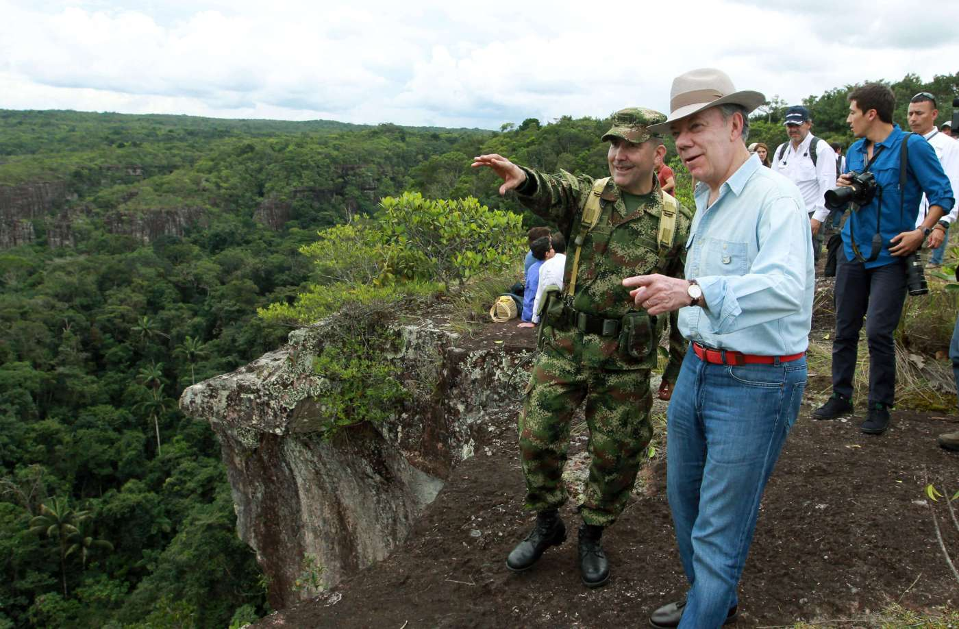 Juan Manuel Santos recorre el Parque Natural de Chiribiquete