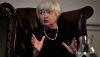 La presidenta de la Reserva Federal Janet Yellen