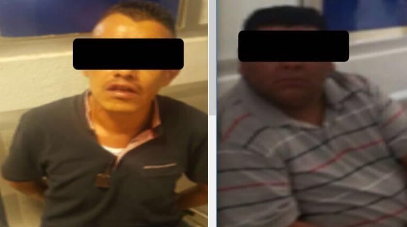 La Policía capitalina detuvo a dos por robo a cuentahabiente. Twitter SSPCDMX