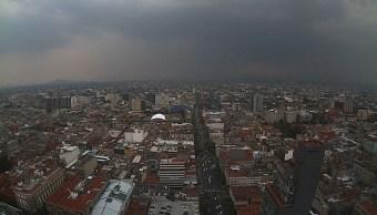 Llueve Ciudad Mexico Nublado Tormenta Nubosidad