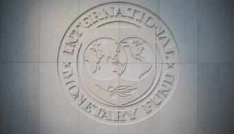 Logotipo del Fondo Monetario Internacional en Washington