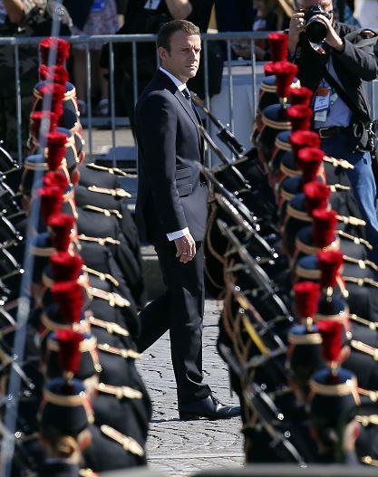 Francia, Celebra, Dia, La Bastilla, Trump, Invitado, Honor, Campos Eliseos, Desfile, Fiesta, Campos Eliseos