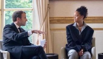 presidente francia emmanuel macron rihanna