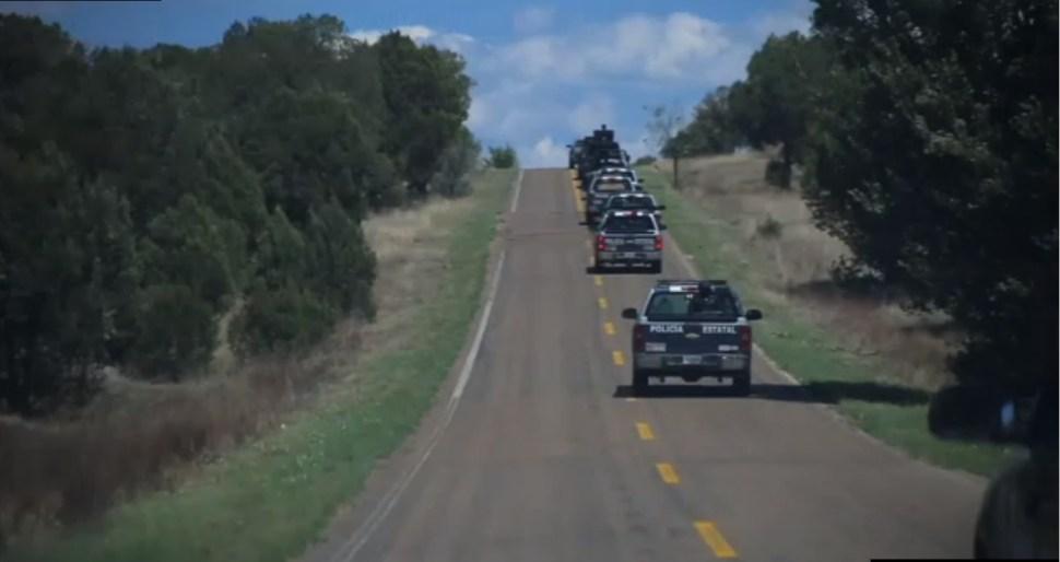 Policias federales vigilan las carreteras de madera
