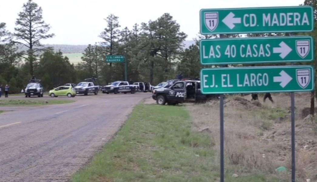 Policias vigilan las carreteras de madera chihuahua