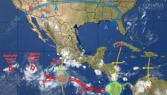 mapa con el pronostico del clima para este 20 de julio