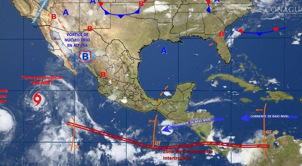 mapa con el pronostico del clima para este 28 de julio}
