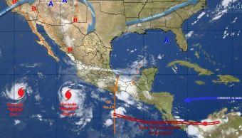 mapa con el pronstco del clima para este 25 de julio