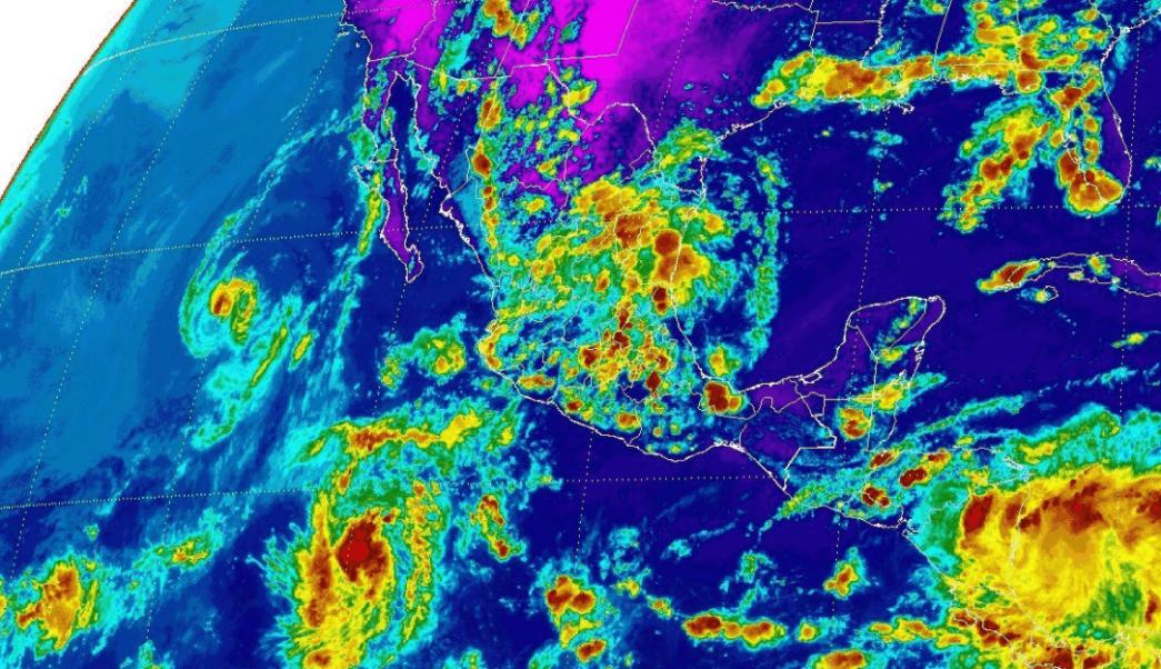 mapa satelital, conagua, clima, lluvias, tormentas,