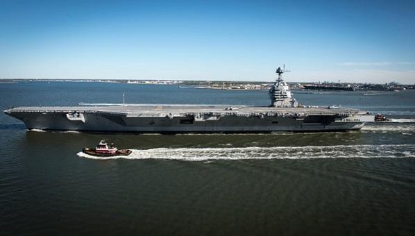 El buque de guerra más costoso y tecnológicamente más avanzado de la Marina de EU (Getty Images)