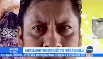 Matan Director Protección Civil Ixcuintla, Nayarit Sabino Mejía Rodríguez