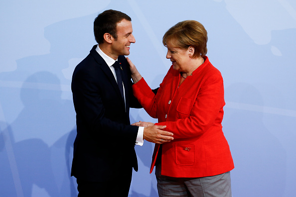 Angela Merkel y Emmanuel Macron, en la reunión del G20.