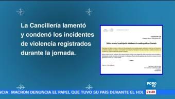 México, condena, actos, violencia, Plebiscito, Venezuela