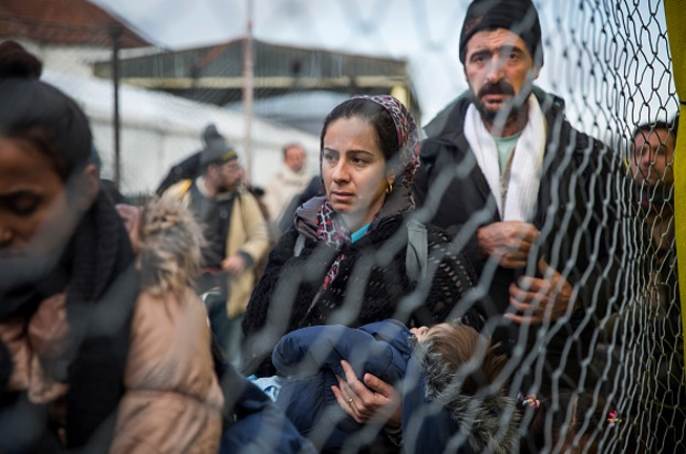 Migrantes en la frontera con Austria (Getty Images)