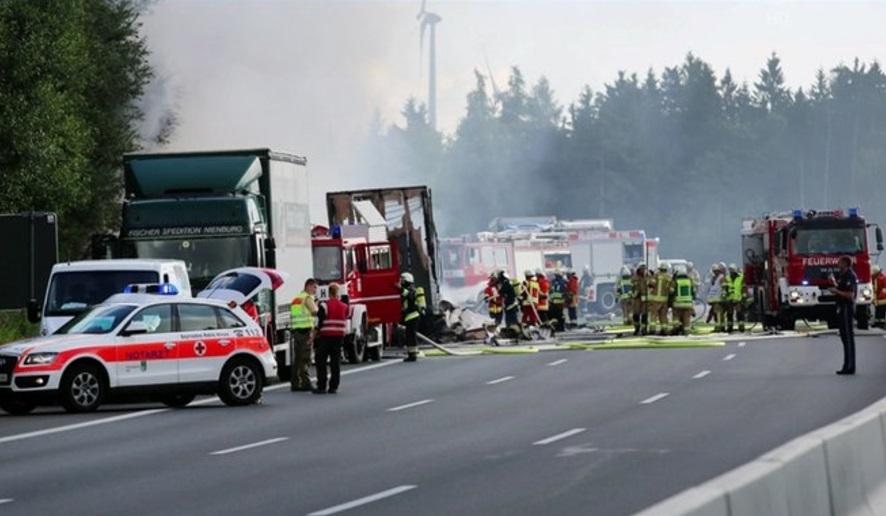 Accidente de autobús en Alemania (Foto: tagesschau)