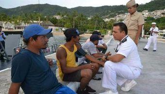 Rescatan, Naufragos, Costas, Guerrero, Chiapas, Pesca, Ecuatorianos, INM