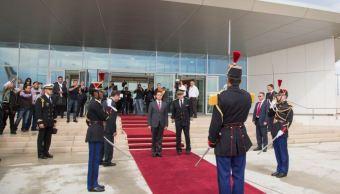 Enrique Peña Nieto llega a Francia (Twitter @PresidenciaMX)