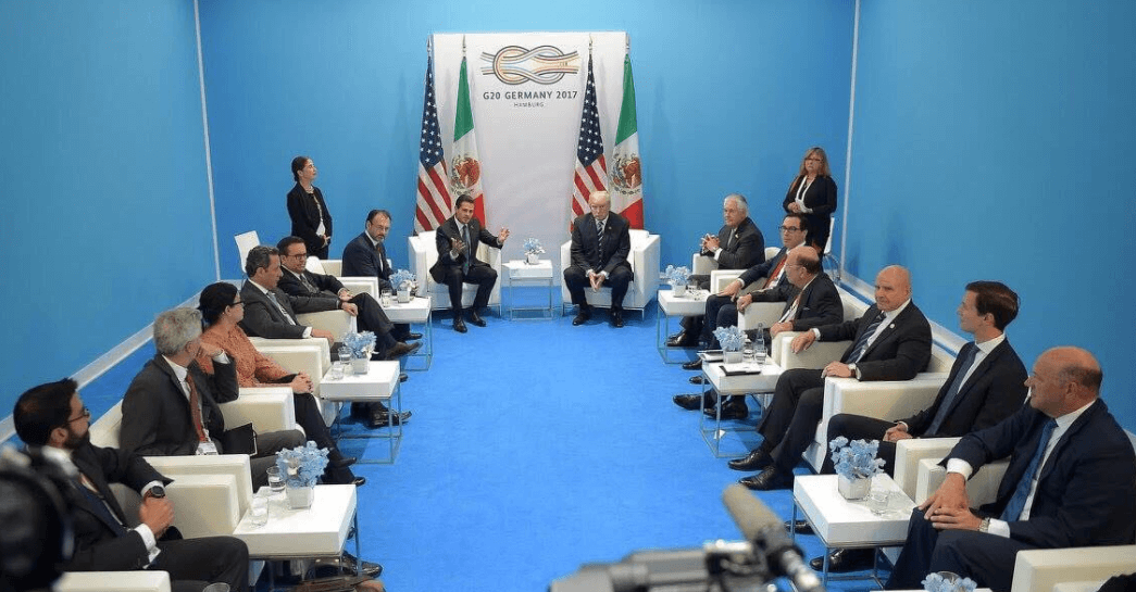 Enrique Peña Nieto se reúne con Donald Trump