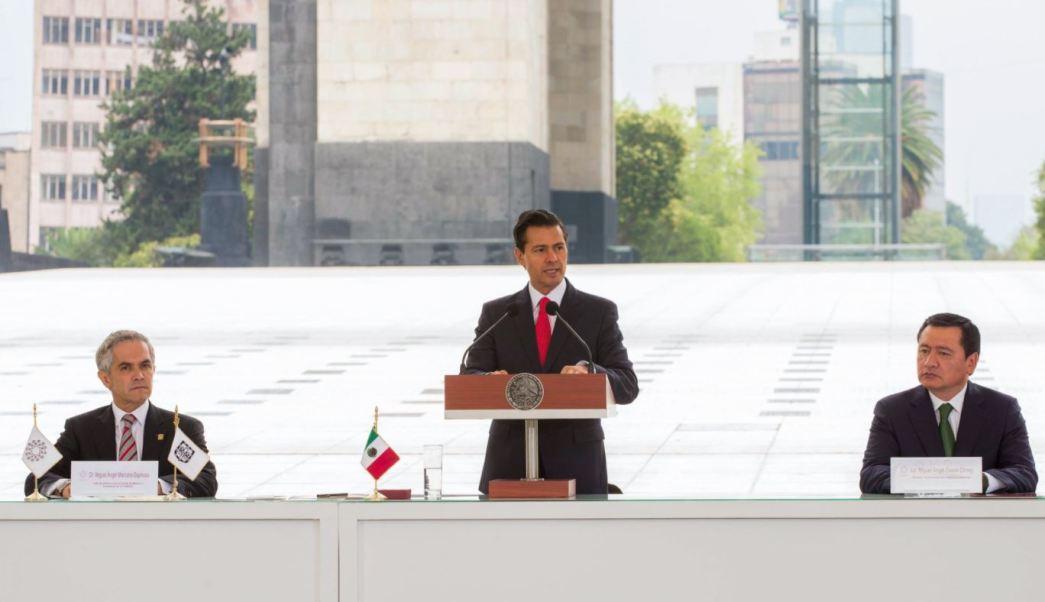 EPN encabeza izamiento de banderas por XV Aniversario de Conago, Presidente de México, Enrique Pena Nieto, Izamiento de banderas de entidades federativas