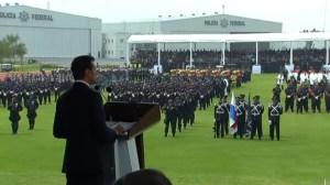 Encabeza, Aniversario, Policia Federal, Conmemoracion, Policias, Presidente, Policia