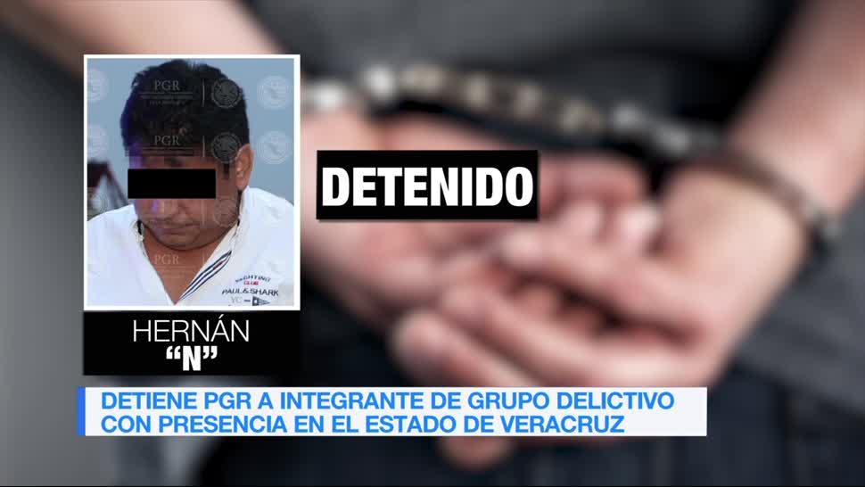 PGR, Detiene, integrante, grupo delictivo, operaba, Veracruz