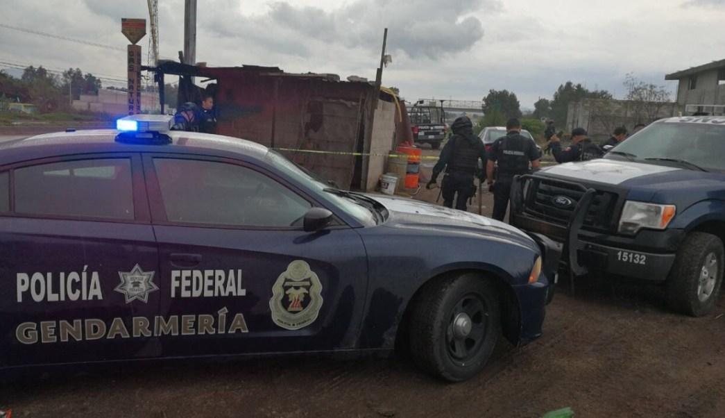 PF en carretera de Texcoco. (Twiter Policia Federal)