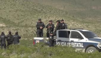 Policías desplegados en Madera, Chihuahua, tras enfrentamientos