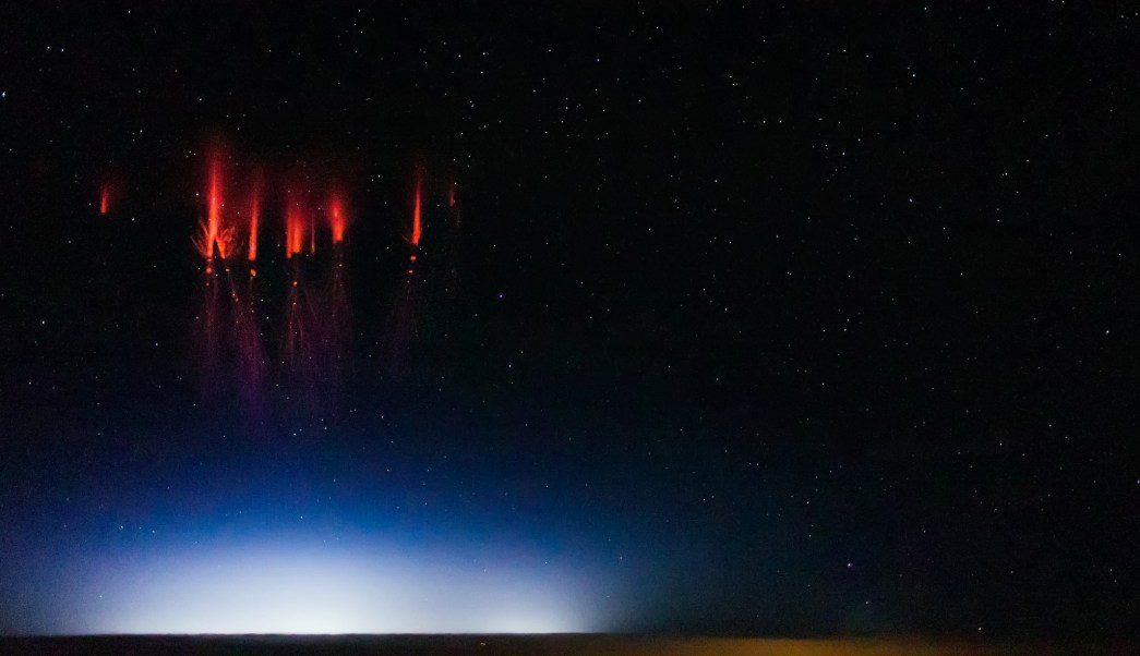 espectro rojo, tormenta rojo, espacio, astrónomo