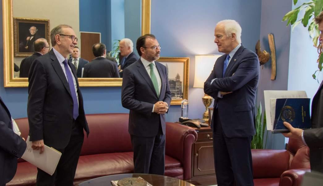 Secretario De Realciones Exteriores, Sre, Luis Videgaray, Texas, John Cornyn