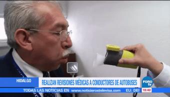 Revisión Médica Choferes Autobuses STC Hidalgo