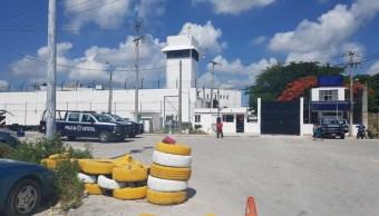 Se registró riña en el penal de Cancún. (Twitter Marcrix Noticias)