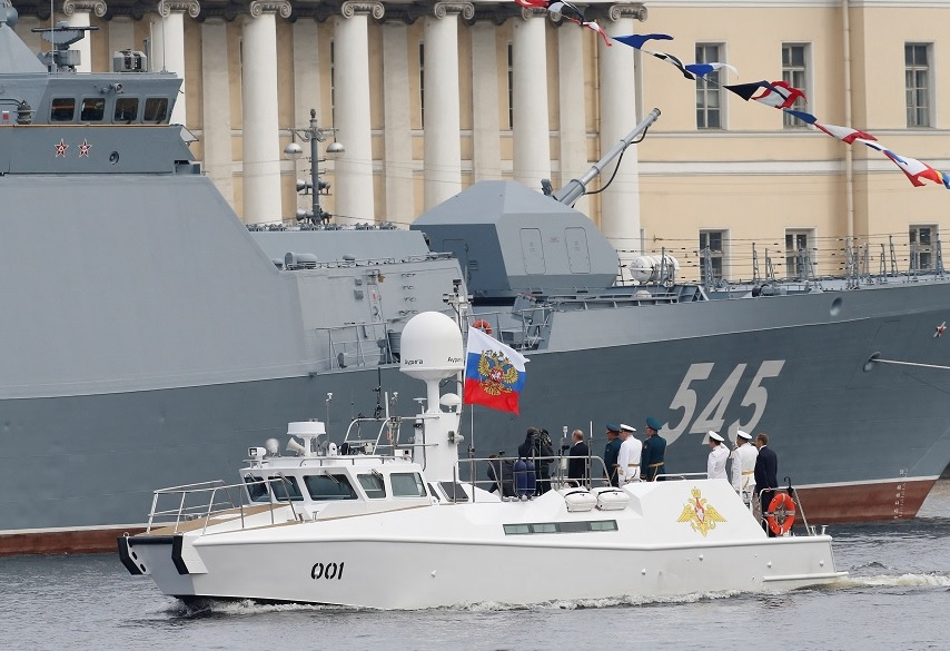 Desfile Día Marina San Petersburgo Rusia