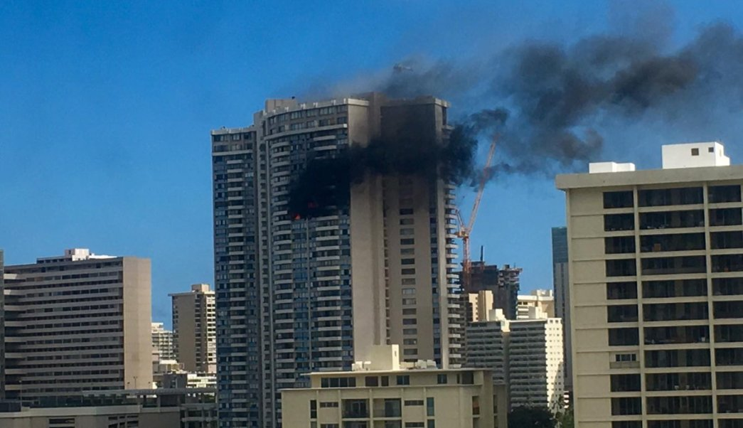Incendio, apartamentos, Honolulu, edificio, accidentes, heridos,