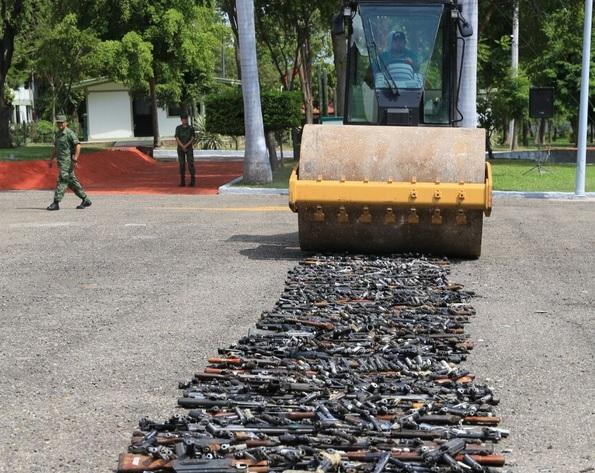 Destruyen Armas Fuego Sinaloa Seguridad Sedena