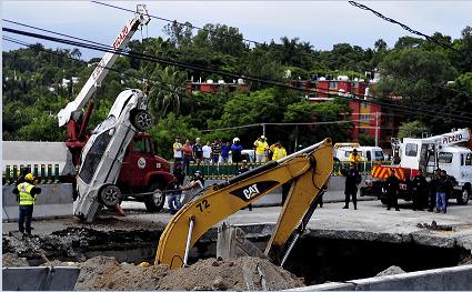 SCT presentará dictamen del socavón en el Paso Exprés