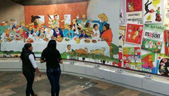 Metro, Zapata, Caricaturistas, Miguel angel mancera, Museo de la caricatura, Supersabios, Linea 12
