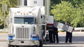 Oficiales Forenses Crimen Indocumentados Texas Trailer