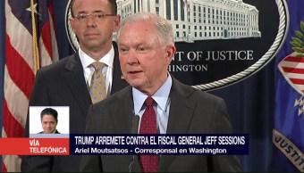 Trump Arremete Fiscal Sessions Ariel Moutsatsos Despido Fiscal General Jeff Sessions Rusiagate